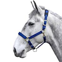 Shires Equestrian Topaz Padded Breakaway Nylon Halter with Adjustable Nose