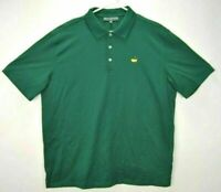 Masters Collection Mens XL Golf Shirt Green Short Sleeve Pima Cotton Polo Rugby