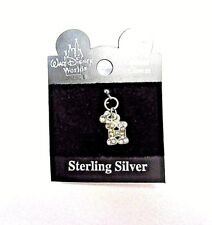 NEW Disney World Minnie Mouse Sterling Silver initial Letter H Crystal Charm