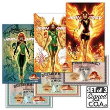 Jean Grey #1 J Scott Campbell EXCLUSIVE Variant set of 3 SIGNED
