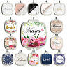 Personalised Name Initials Marble Handbag Travel Make Up Cosmetic Compact Mirror