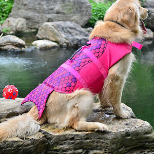 Puppy Pet Dog ife Jacket Preserver Float Swimming Safety Protect Vest S / M