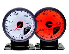 Manómetro de Aceite Universal 60 mm blanco/rojo marcado Pico De Deriva Jdm Racing Rally