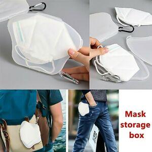 Portable Face Mask Case Storage Box Travel Organizer Face Mask Protective Holder