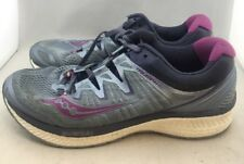 Saucony Triumph ISO Grey/Purple Running Shoe's Women's US 10 W (C3,9)