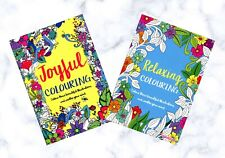 2 x Adult Colouring Books (Joyful Colouring & Relaxing Colouring)