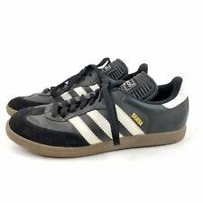 Mens ADIDAS Samba Black & White Leather Soccer Shoes Sneakers SIZE 7.5 EU 40.5
