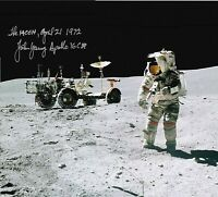 John Young ( Apollo 16 ) SIGNED 8X10 PHOTO AUTOGRAPH REPRINT