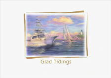 Glad Tidings Glitter 15 Nautical Boxed New Year Cards by Red Farm Studios