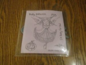 "Kraftin Kimmie, ""Batty Princess"". Rubber Stamp. New."