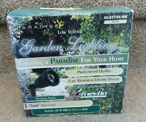 PARADISE Black Low Voltage Cast Aluminum 20 Watt Halogen Spotlight