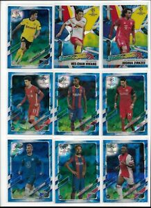 2020/21 Topps Chrome UEFA Sapphire Soccer Base Pick Player Complete Your Set