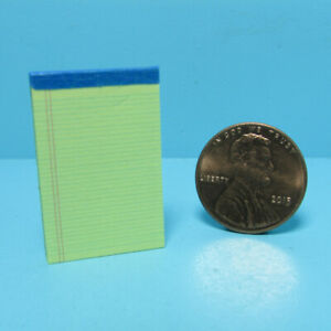 Dollhouse Miniature Replica Legal Note Pad Yellow Real Pages and Lined HR56102Y