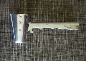 Vtg BAR BOY liquor measuring cup tool corkscrew bottle opener GOOD TOOL SEE PICS