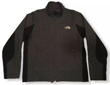North Face Apex Chromium Thermal Jacket Men's L Gray Black Fleece Lined - EUC