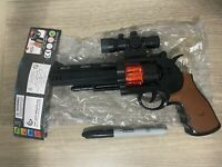 """1 NEW BATTERY OPERATED PISTOL 10"""" HANDGUN ACTION REVOLVER WITH LIGHTS SOUND NRA"""
