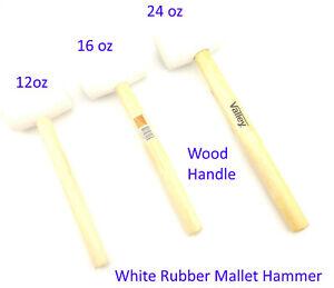 White Rubber Mallet Hammer 12oz 16oz 24oz Wood handle cabinet making 2Pcs 3pcs