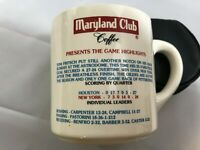 RARE Vintage 1979 MARYLAND CLUB COFFEE MUG OILERS/JETS GAME-COLLECTOR SERIES #10