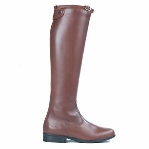 Tuffa Showtime Brown Riding Boots Size 7, Wide calf