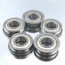 "5 pcs [FR8zz] MR8 1/2"" x 1-1/8"" x 5/16"" Metal Shielded  Flanged  Ball Bearings"