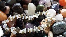 Labradorite & rainbow moonstone chip bead healing crystal bracelet