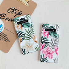 Elegant Green Leaf Flowers Cover For Samsung A50 A70 S8 S9 S10 Plus Phone Cases