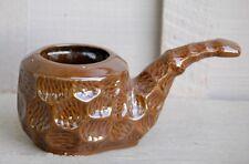 Vintage INARCO Ceramic Brown Pipe Ashtray Window Sill Garden Planter MCM Japan