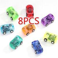Pull Back Car 8 Pcs Mini Plastic Vehicle Set Toys for Kid Child Party Favors Toy