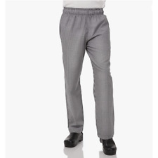 Chef Works Mens Sz Xl Essential Baggy Chef Pants Small Check Black White