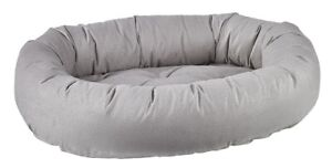 Bowsers Pet Luxury Cushioned Oval Donut Dog Bed Micro Flannel Microcord