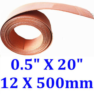 """0.5"""" X 20"""" 12 X 500mm 50W Injection Injector Line Heater Silicone Heating Strip"""