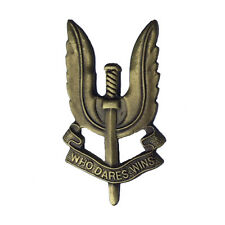 NEW BRONZED EFFECT METAL SAS SPECIAL AIR SERVICE CAP BADGE FOR BERET & PEAK CAP