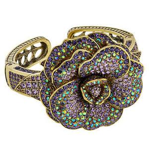 """HSN Heidi Daus """"Rose Garden"""" Crystal Cuff Bracelet $497"""