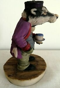 Arden sculptures for Cosgrove Hall Productions wind in the willows Badger