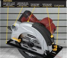 New 7-1/4 in. 10 Amp Heavy Duty Circular Saw With Laser Guide System