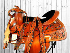 15 16 WESTERN SHOW PLEASURE TRAIL RACING HORSE WESTERN BARREL SADDLE TACK SET