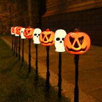 4m Plug In Halloween Pumpkin Skull LED Party Stake Lights | Outdoor Garden