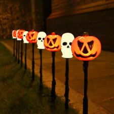 4m Plug In Halloween Pumpkin Skull LED Party Stake Lights   Outdoor Garden