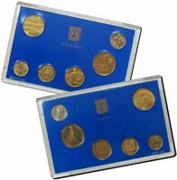 Israel Official Mint New Sheqel Coins Set 40th Anniversary 1988 UNC
