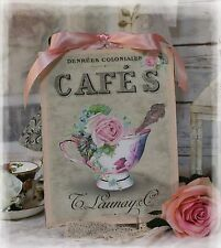 """New! """"TEA CUP"""" ~ Shabby Chic ~ Vintage ~ Country Cottage style ~ Wall Decor Sign"""