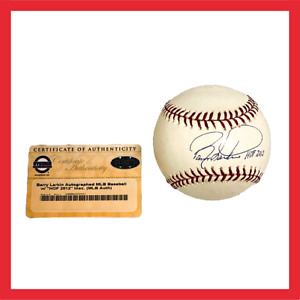 Barry Larkin Autographed Official MLB HOF 2012 Baseball