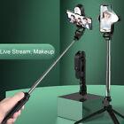 Portable Selfie Stick Phone Tripod + Bluetooth Remote & Fill Light Live Stream