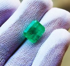 7.72 Fine Natural Emerald Octagon Zambia UnTreated Loose GemStone
