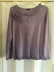 A Very Nice Talbots silk Cardigan  Womens size M with Free shipping