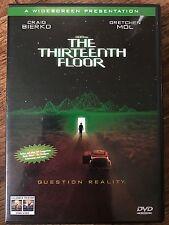 Craig Bierko Gretchen Mol THIRTEENTH FLOOR ~ 1999 Sci-Fi 13th ~ Rare UK DVD