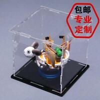 Varies Size Square Cube Acrylic Plastic Display Case Box Dustproof Self-Assembly