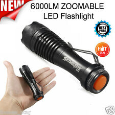 6000LM Q5 AA/14500 3 Modi ZOOM LED Super Bright Taschenlampen Polizei Torch New