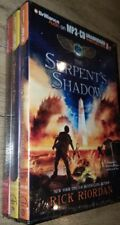 Lot 3 The Serpents Shadow Rick Riordan MP3-CD Unabridged throne of fire