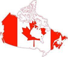 Sticker car moto map flag vinyl outside wall decal macbbook canada canadian