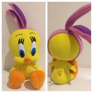 Vintage 1999 Looney Tunes Tweety Bird Pink  Rabbit Ears Cutie Warner Bros.